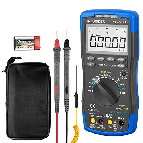 INFURIDER Digital Multimeter, YF-770D Auto-Ranging 40000 Counts Electrical...