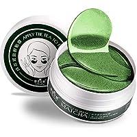 kingpo Eye Mask Hidratante Facial Máscara para Anti Aging Bolsas de los Ojos ojeras líneas Finas Destellos de elevación de apriete 60PCS / Té Verde El colágeno es rectángulo Mujeres