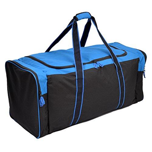 Jetstream Heavy Duty Multi Pocket Large Sports Gym Equipment Travel Duffel Bag (36 Inch, Blue)