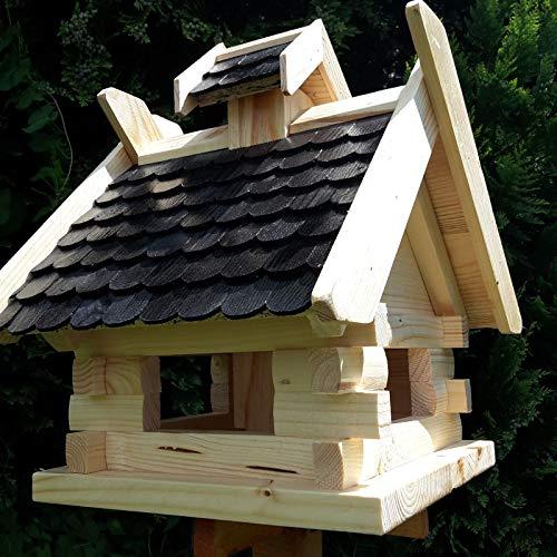 Vogelhaus Schreinerarbeit Futterhaus Vogelhäuschen –Wetterschutz– K Block Schwarz Holz Vogelhäuser - 2