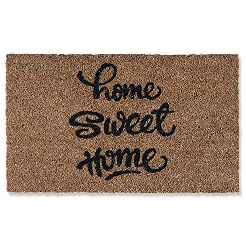 LIU Felpudo De Palma De Coco Sweet Home, Antideslizante Y Duradero, Felpudo De Entrada para Uso En Interiores Y Exteriores (tamaño :...
