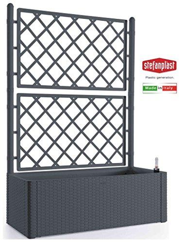 Stefanplast STF641 Blumenkasten Deluxe mit Spalier grau