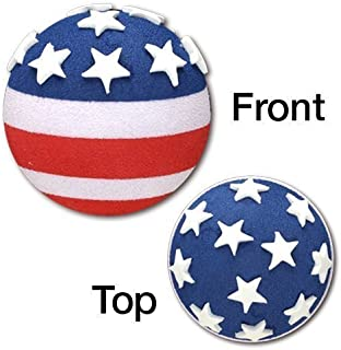 Tenna Tops Patriotic USA American Flag Car Antenna Topper / Mirror Dangler / Desktop Spring Stand