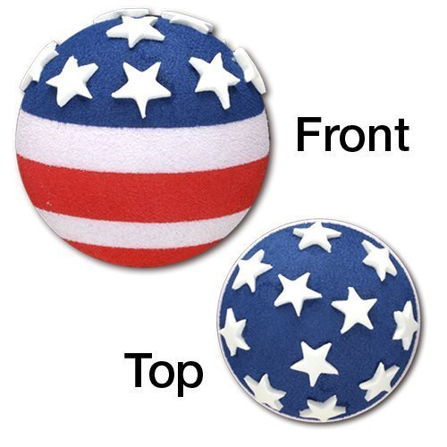 Tenna Tops USA Patriotic American Flag Car Antenna Topper Ball / Auto Mirror Dangler / Desktop Spring Stand Bobble Buddy (Car Accessory)