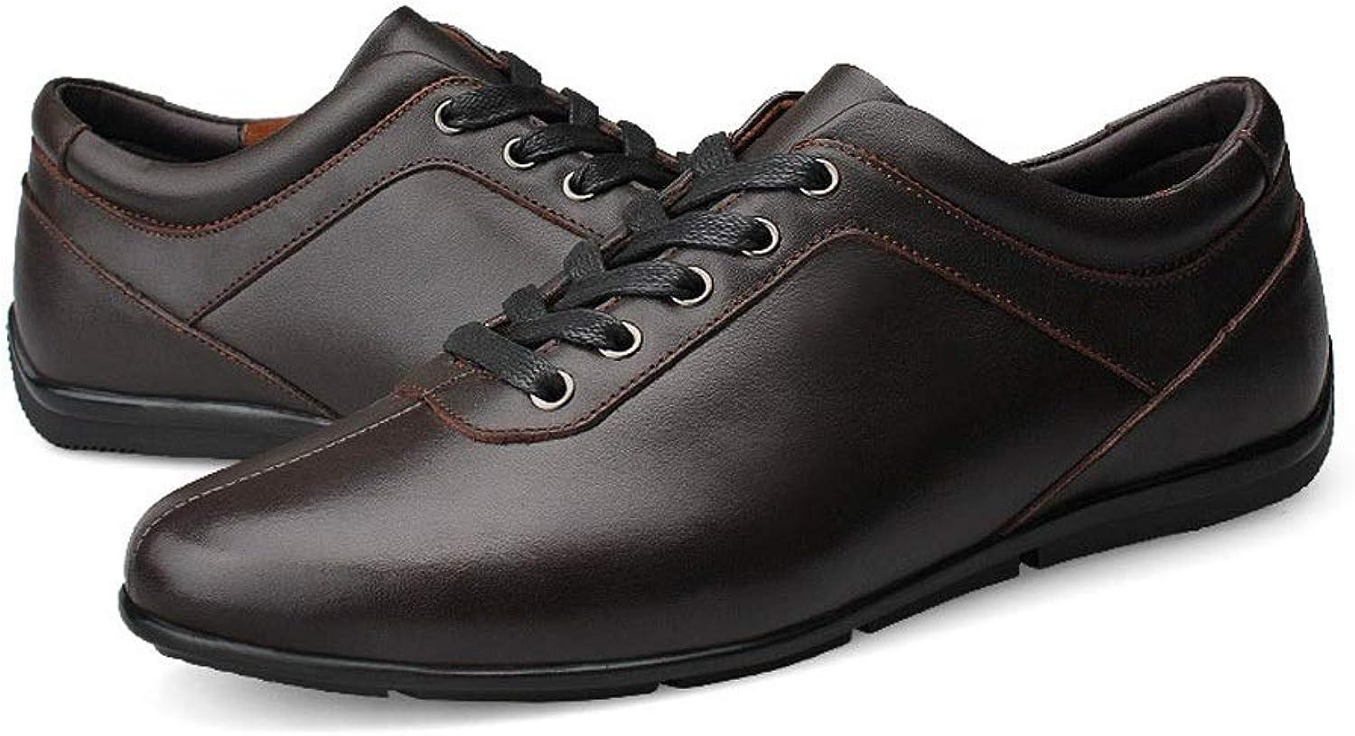 CATEDOT Herren Oxford Schuhe Leder Cap Toe Klassische Formale Business Dress Schuhe für Männer (Farbe   braun, Größe   47EU)  | Langfristiger Ruf