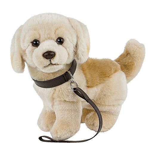 Teddys Rothenburg Kuscheltier Golden Retriever/Labrador hell mit Leine 23 cm blond Plüschhund Stofftier Plüschtier Kinder Baby Spielzeug