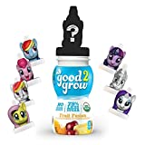 good2grow Organic My Little Pony Collector Pack 75% less sugar Fruit Fusion Juice, 6-pack of 6-Ounce Spill-proof Character Top Bottles, USDA Organic, Non-GMO, No Sugar Added Character Tops May Vary