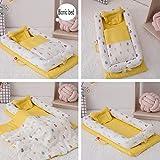 Babybettausstattung ZIXIANG Tragbar Falten Bionisches Bett Isolationsmatratze Kinderbett Mit Steppdecke Abnehmbar Kinderbett Neugeboren 20 Farbe (Color : T4)