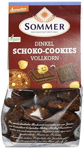 Sommer Dinkel Schoko-Cookies Vollkorn vegan, demeter, 6er Pack (6 x 150 g)