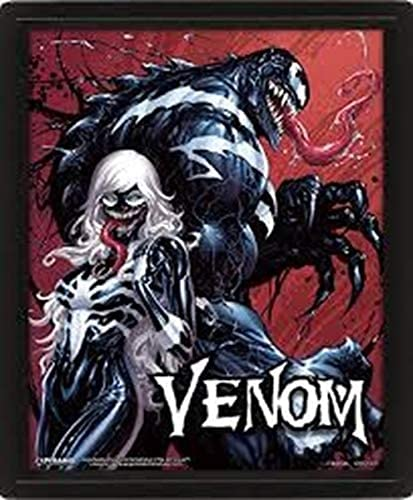 AMCYT Pyramid - Póster lenticular 3D de Venom (60 x 90 cm, 30 x 45 cm)