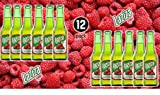 "Laziza Raspberry Flavor Malt Beverage"" Non Alcoholic"" Drink - 2 Pack of 12 Glass Bottles Packs 330ML - لذيذة مشروب شعير بنكهة التوت الأحمر بدون كحول"