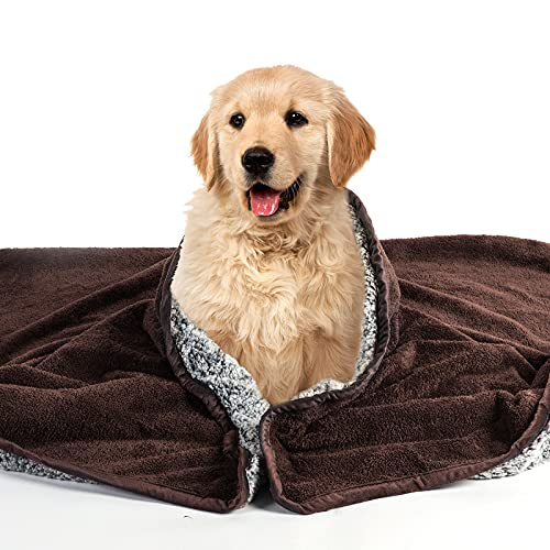 Pattepoint Extra Grande Manta Impermeable para Perros, Fundas Lavables para Asientos de Coche, Suministros para Perros a Prueba de PIS, Manta para Mascotas para Perros y Gatos - Café 150 x 200 cm