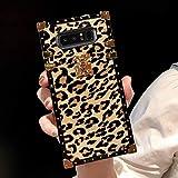 Compatible for Samsung Note 8 case,Babemall Elegant Premium Leopard Square...
