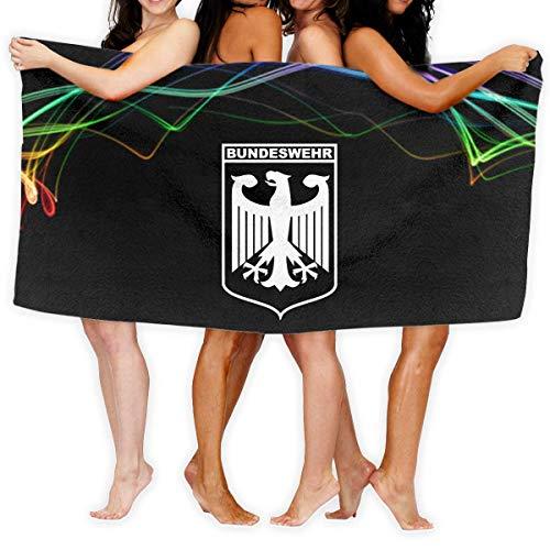 Roman Lin Bundeswehr Logo with Text Fashion Over-Sized Beach Bath Towels 31.5x51.2 inch/80x130cm