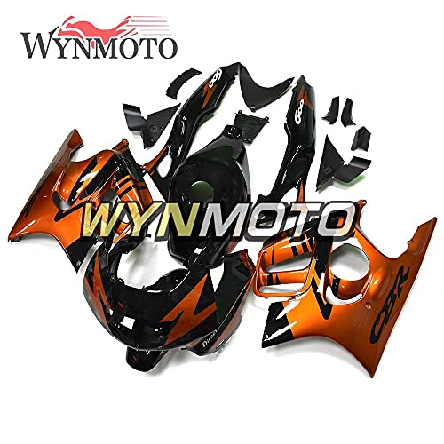 WYNMOTO Motorcycles Orange Black Full Fairing Kit Compatible With Honda CBR600 CBR 600 F3 Year 1997 1998 Body Kits ABS Injection Cowlings Bodywork Hulls