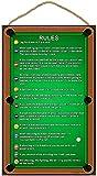 SJT ENTERPRISES, INC. Billiards/Pool Table Rules 10' x 16' Wood Plaque Sign (SJT28360)