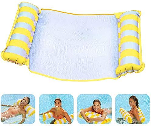 SunAurora 4-in-1 Aufblasbares Schwimmbrett, Pool Schwimmendes Bett, Tragbare Pool Luftmatratze für Erwachsene und Kinder