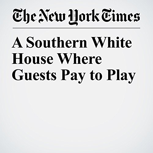 A Southern White House Where Guests Pay to Play copertina