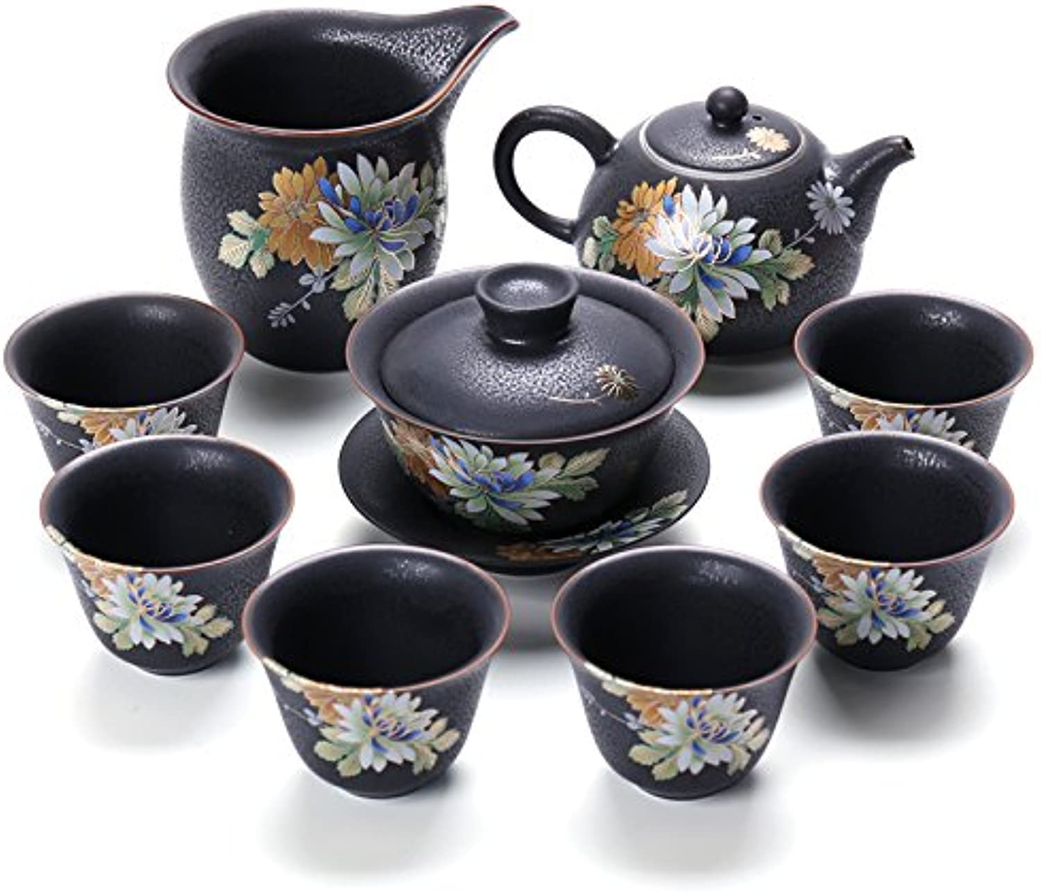 LHJY The Ceramic Kiln Set of Kung Fu Tea Set Tea Teapot Tea Japanese Justice Cup A