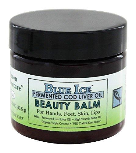 Green Pasture Blue Ice FCLO Beauty Balm   avec du beurre de karité, du beurre-huile, de la noix de coco et de l'huile de foie de morue fermentée   nourriture pour la peau   49,5 g