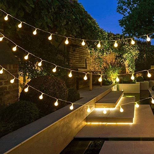 CZYNB Luces de la Secuencia de alimentación Principal, 10M 100 LED Dormitorio Luz de Navidad, 8 Modos, Blanco cálido Luces del Adorno for la Cubierta Exterior, Jardín, Gazebo, Fiesta, Boda