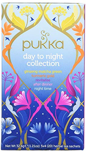 Pukka Day to Night Herbal Collection x 5 Organic Teas Selection (4 Pack x 80 Tea Bags)