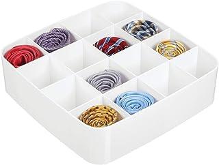 mDesign boite de rangement avec 16 compartiments – caisse de rangement pratique pour chambre – boite en plastique sans BPA...