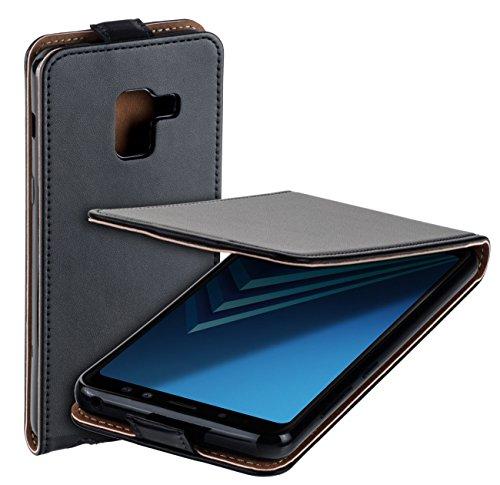 yayago Flip Tasche für Samsung Galaxy A8 2018 / A8 2018 Duos Schutzhülle Flip Hülle Hülle Klapphülle Schwarz