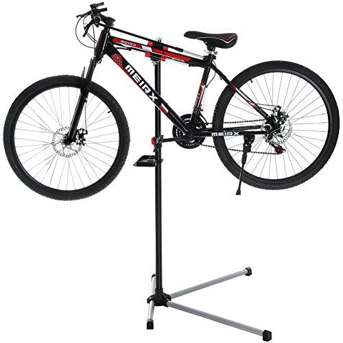 BAKAJI Stand Riparazione Manutenzione Biciclette Supporto Cavalletto per Bici Mountain Bike Nero