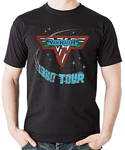 Official Van Halen 1980 Tour T-shirt for Men, S to XL