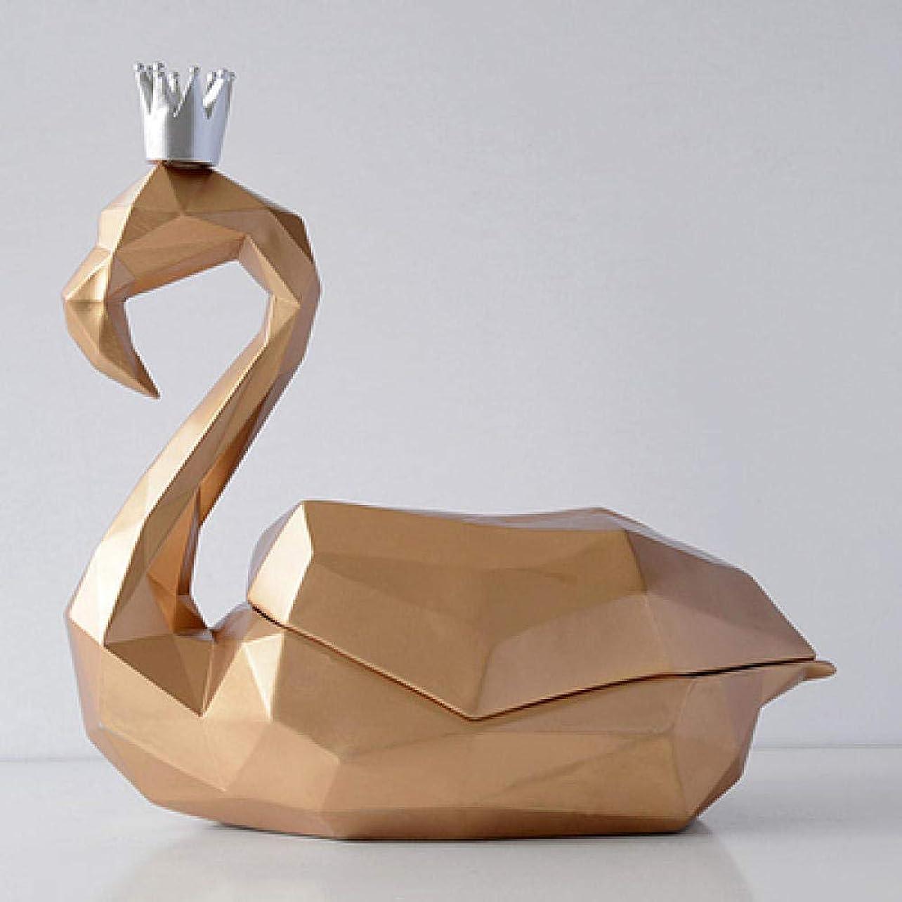 脚本家波技術者FY-YY 部屋のコーヒーテーブルの卓上ティッシュボックス4を生活の装飾アートクラフトフラミンゴの装飾品