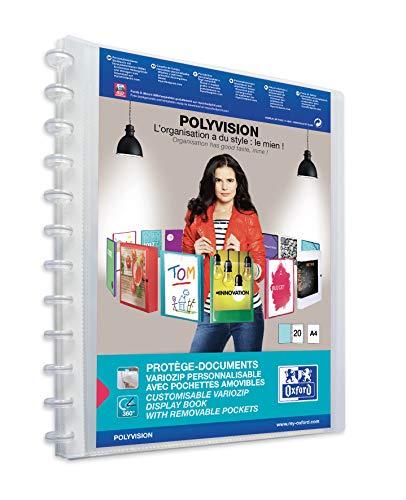 Preisvergleich Produktbild ELBA polyvision Ringmappe A4,  mit vario-zipp,  20 Hüllen,  farblos