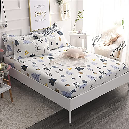 YDyun Matratzen-Bett-Schoner mit Spannumrandung   Auch für Boxspring-Betten & Wasser-Betten geeigne Einteilige Tagesdecke aus Baumwolle rutschfest & staubdicht