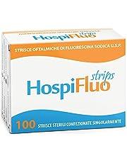 AIESI® Fluoresceína Sódica oftálmicas tiras estériles para prueba de tono ocular HOSPIFLUO STRIPS (Paquete de 100 piezas)