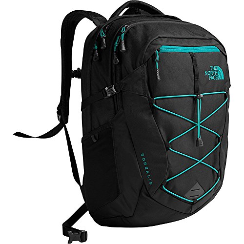 The North Face Unisex Classic Borealis Backpack Student School Bag Black Heather Fanfare green