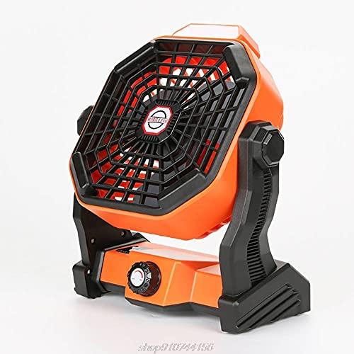 Ventilatore da Campeggio Ricaricabile USB, Batteria da 5200 mAh, Ventilatore Personale Alimentato Oscilla in Silenzio, Adatto per Esterno, Casa, Scrivania