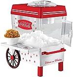 Nostalgia SCM550COKE Coca-Cola para encimera de nieve hace 20 golosinas heladas, incluye 2 tazas de plástico reutilizables y cuchara de hielo - blanco/rojo