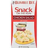 BUMBLE BEE Snack on the Run! Chicken Salad with Crackers Kit, 3.5 Ounce Kit (Pack of 3), High Protein Snack...