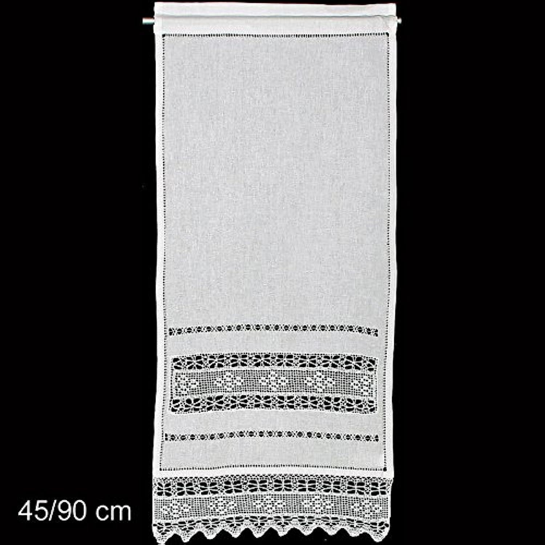 Fensterdeko Gardine Hossner   90x40 cm H B   weiß   55 % Leinen   45 % BW B06XFGGB89