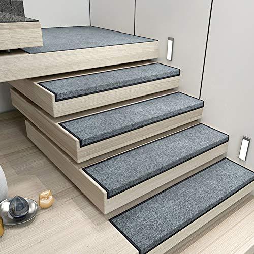 RPLW Antiscivolo Gradini per Scale Set di 15, Durevole Scale Tinisti con Self Adesivo Backing Interni Corridore Non Skid Tappetino Coprigradini per Scale Tappeti-Dark Grey 26x75cm(10x30inch)