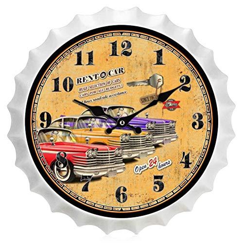 Yuany Vintage-Uhr, kreative Eisenwanduhr Silent Non-Ticking Battery Operated Home Decoration, für Wohnzimmer, Schlafzimmer und Küche, J.