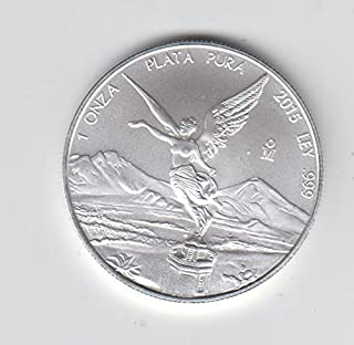2015 Mexico Mexican 1 Onza Silver Libertad 1 OZ. Coin Libertad Choice Uncirculated