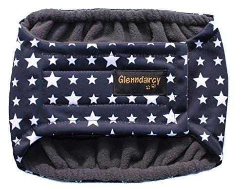 Glenndarcy Ltd Glenndarcy Männlicher Hundewindeln Bauchband Blue Stars Medium Band only