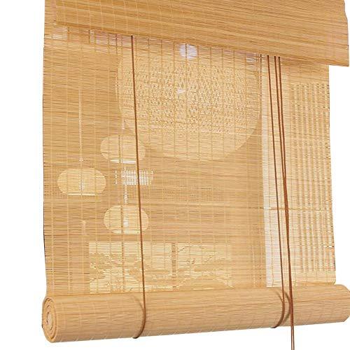 Jcnfa-rolgordijnen, bamboe-jaloezieën, lichtfilter, rolluiken met volant, voor tuin, terras, galerij, balkon, natuurlijke kleur gloeidraad, nauwe toonhoogte
