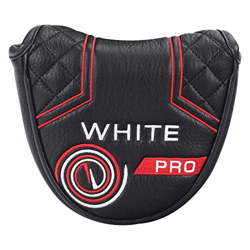 mytag Golf Putter Head Cover, Mallet Putter Head Covers for Odyssey White Hot Pro Heel-Shaft (Strong Magnetic)