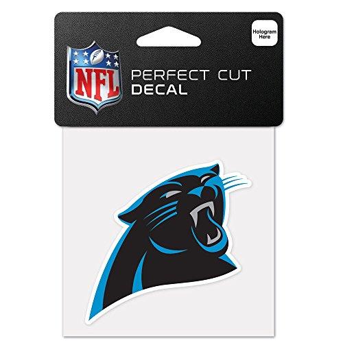 WinCraft NFL Carolina Panthers 63039012 Perfect Cut Color Decal, 4' x 4', Black