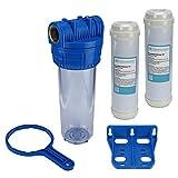 Brunnen Wasser Filter 10' Gehäuse mit 1' IG Garten Pool mit 2X Eisenfilter