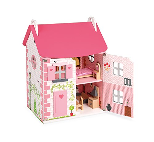 Janod J06581 Puppenhaus Mademoiselle (11 Teile Zubehör)