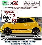 LWEDLW Nuova Generazione 2 Adesivi Fasce Kit Strisce Laterali + Omaggio Adesivo Scorpione Fascia Strisce Adesivi Stickers Fiancate Vinile Professionale Strip Decal