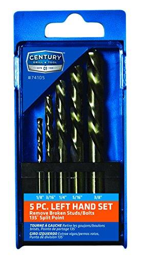 Century Drill & Tool Left Hand Cobalt Jobber Drill Bit, 5 Pc (74105)